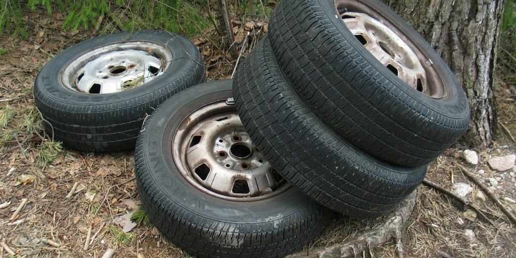 Mosquitoes like to breed in tires