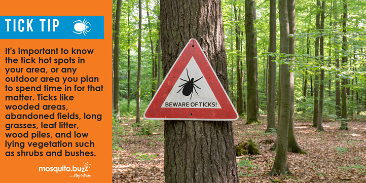 Get to know the tick hot spots in your area.