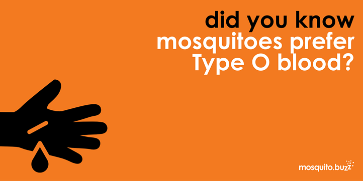 Mosquitoes prefer Type O blood.